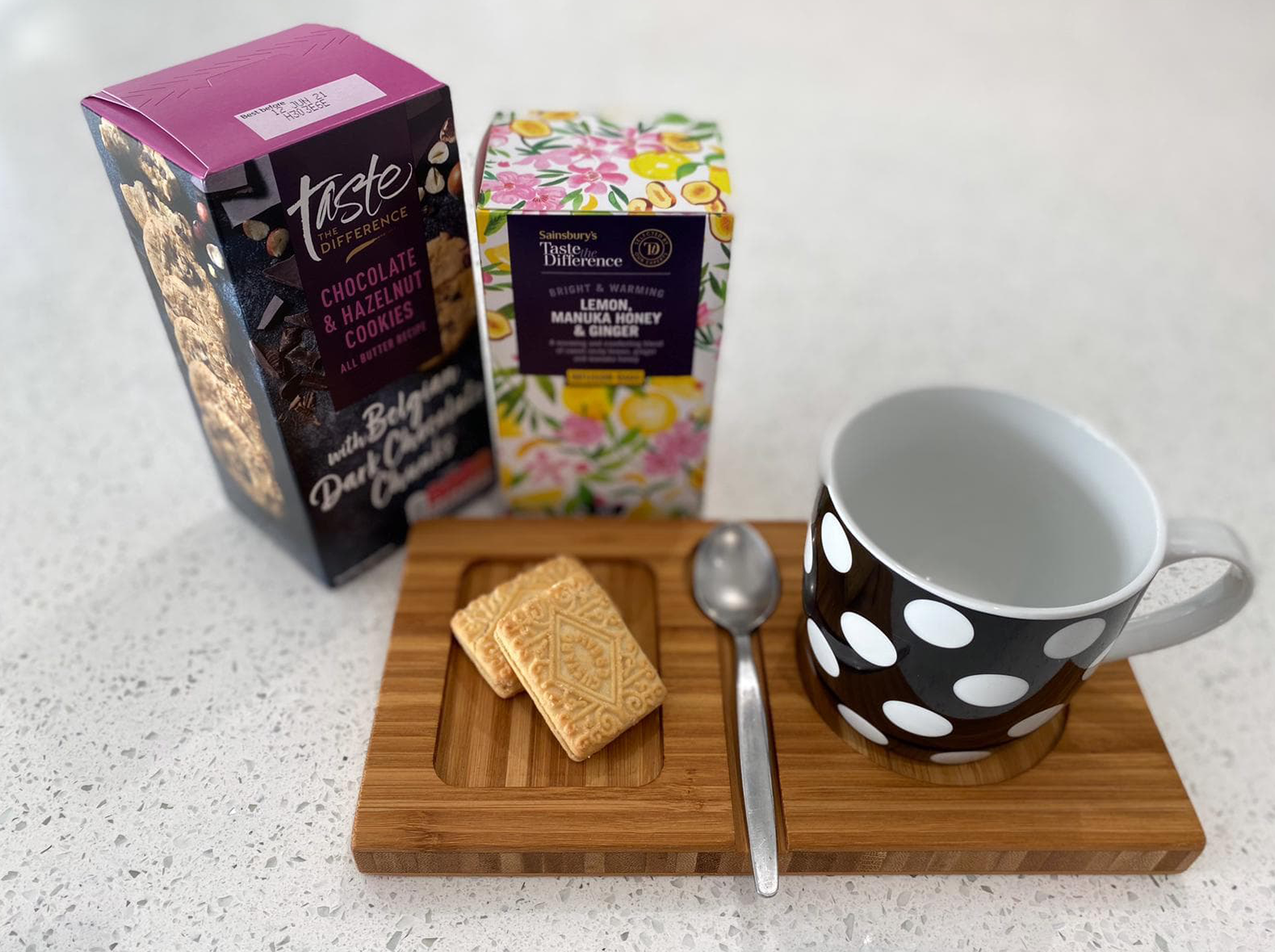 Tea, Biscuits, and a Serving Board